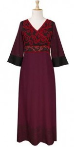 embroidered-spirals-wrap-front-maxi-dress
