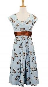 floral-print-sash-waist-dress