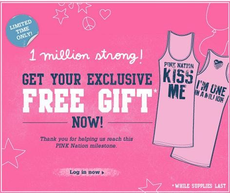 FREE Pink Nation Tee Thumbnail