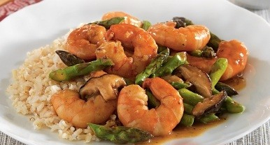 Sabroso Saturday: Shrimp, Asparagus, and Mushroom Stir-Fry Thumbnail