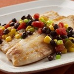 #SabrosoSaturday: Tilapia with Black Beans and Corn Thumbnail
