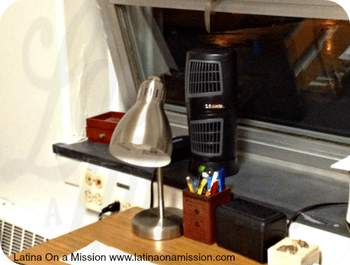 Lasko Fan in a Dorm Room| Latina On a Mission
