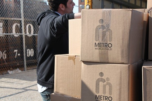 Metro World Child Distribution Drop Off | Latina On a Mission