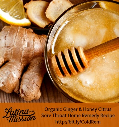 Organic Sore Throat Home Treatment Recipe | Latina On a Mission