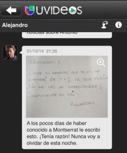 Uvideos: Alejandro's note to Montserrat | Latina On a Mission