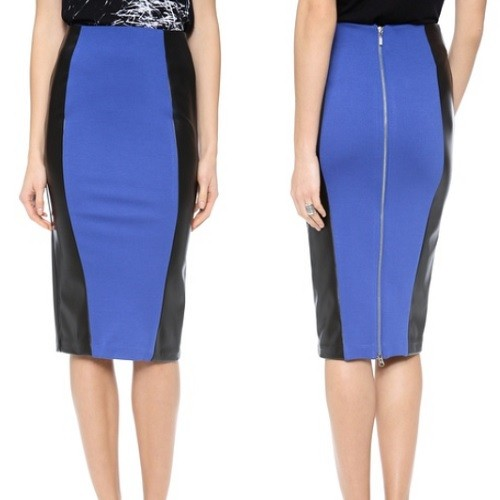 5th & Mercer, Colorblock Pencil Skirt