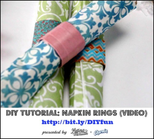 DIY Tutorial: Napkin Rings | Presented by Latina On a Mission + Charmin