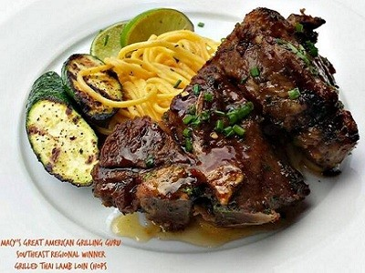 Sizzle Showdown Grilled Thai Lamb Chops | www.latinaonamission.com