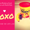Banana Blueberry Greek Smoothie Recipe with Nestlé Nido 1+