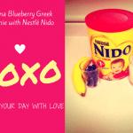 Banana Blueberry Greek Smoothie Recipe with Nestlé Nido 1+