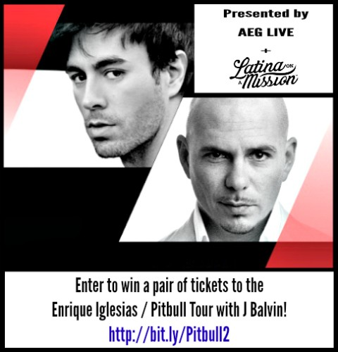 Enrique Iglesias + Pitbull Concert Ticket Giveaway | LatinaOnaMission.com