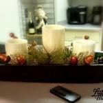 Easy Romantic Holiday Centerpiece #BIGHoliday | LatinaOnaMission.com