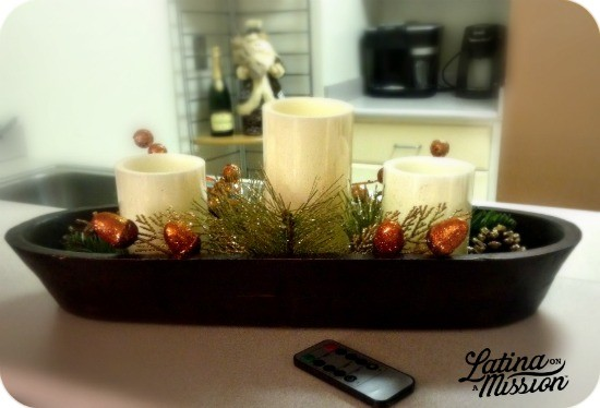 Easy Romantic Holiday Centerpiece #BIGHoliday | LatinaOnaMission.com