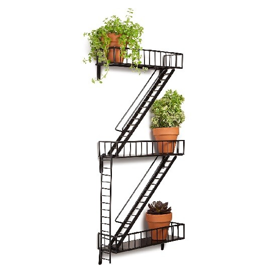 UnCommon Goods Fire Escape Shelf | LatinaOnaMission.com