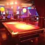 Lucky Strike Pool Table   Latina On a Mission