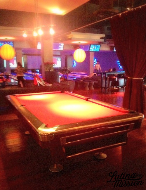 Lucky Strike Pool Table | Latina On a Mission