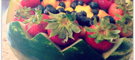 Watermelon Fruit Bowl Recipe | Latina Blogger – www.latinaonamission.com