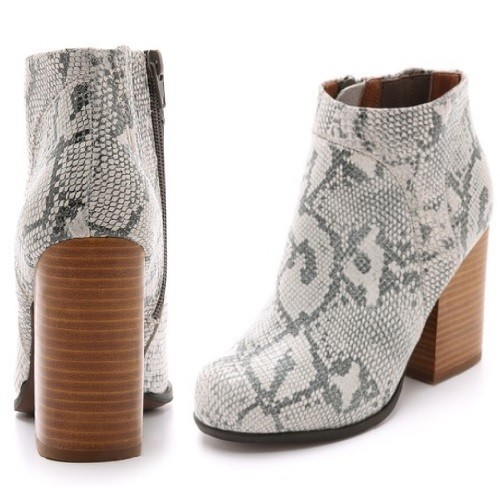 Jeffrey Campbell Hanger Snake Booties | Latina On a Mission