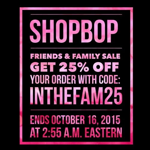 SHOPBOP 25% Coupon Code | Latina On a Mission