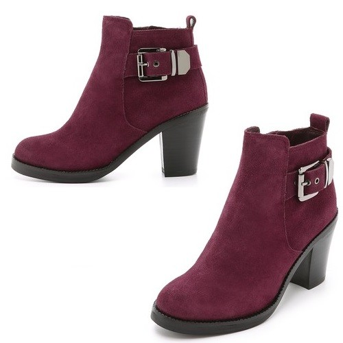 DKNY Willa Suede Chelsea Buckle Booties | Latina On a Mission