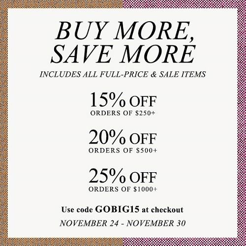 Save up to 25% with the Shopbop coupon code!