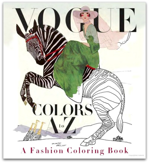 Vogue Colors A to Z Fashion Coloring Book | Latina On a Mission