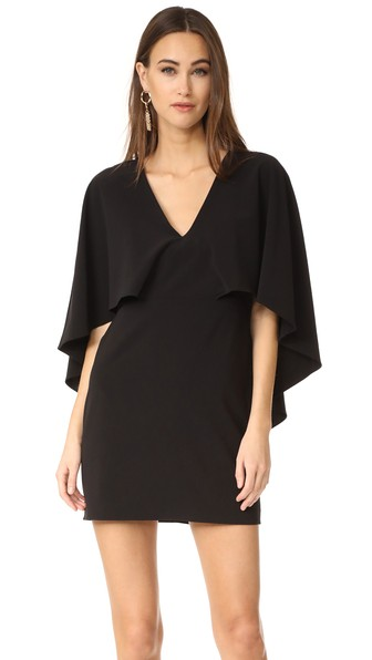 V Neck Crepe Dress with Cape, Halston Heritage | Fashion Blogger