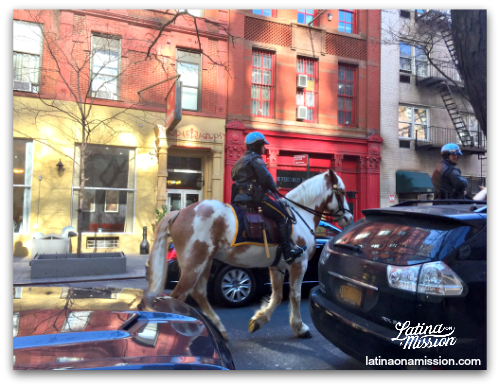 Policeman and police horse in Manhattan, New York | Latina On a Mission