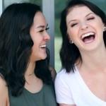 Two women with dark hair laughing. | PC: Sharon McCutcheon on UnSplash